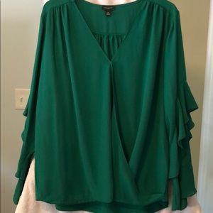 Ann Taylor factory blouse green